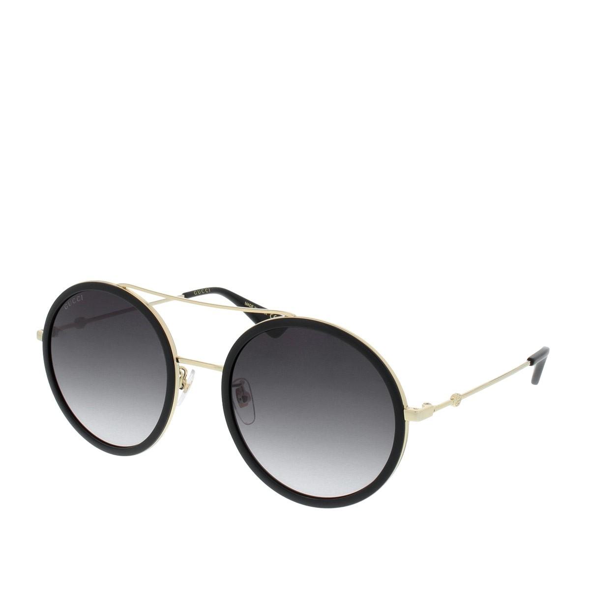 Gucci GG0061S 001 56, 193,99€, Occhiali Gucci Nero a forma Rotondo
