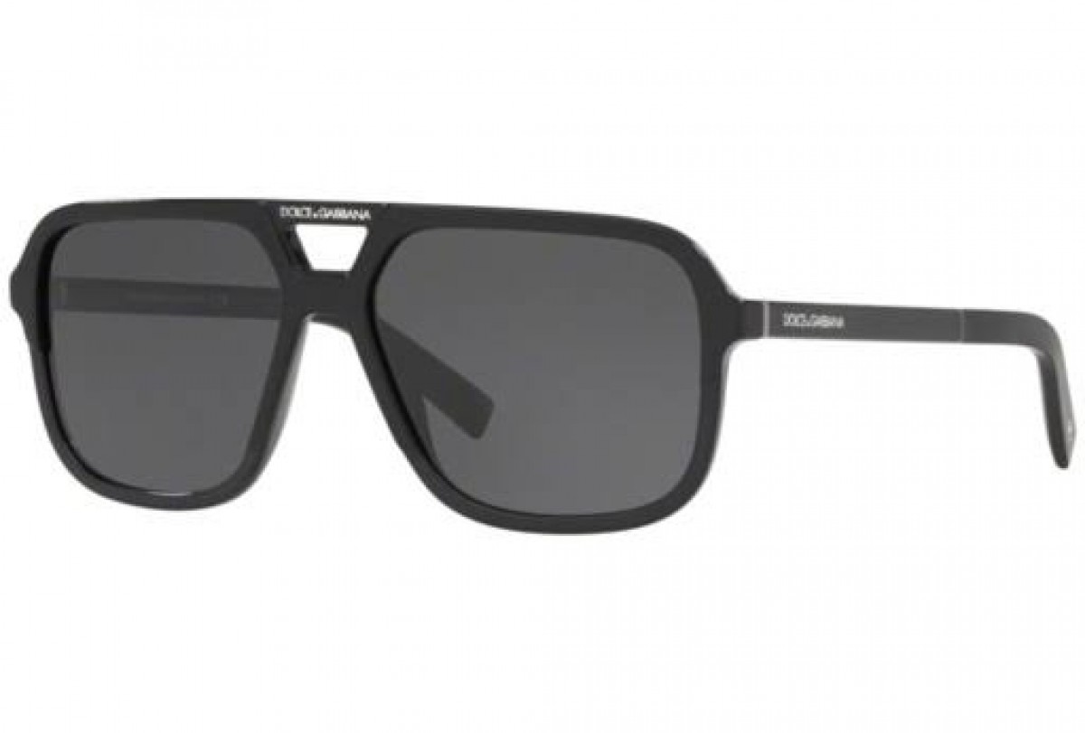 Dolce&Gabbana 4354 SOLE 501/87 58, 119,99€, Occhiali Dolce&Gabbana Nero a forma Goccia aviator