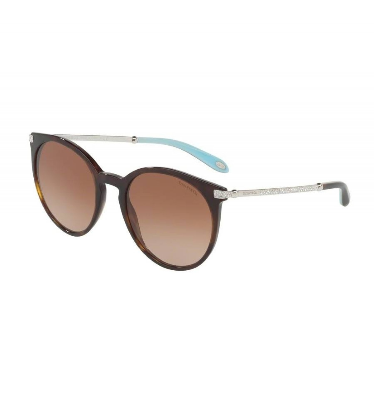 Tiffany 4142 80153B 54, 221,98 €, Occhiali Tiffany & Co. Marrone a forma Rotondo