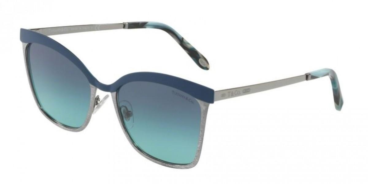 Tiffany 3060 6129/9S 55, 174,11€, Occhiali Tiffany & Co. Blu a forma Rettangolare