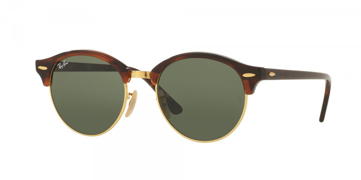 Ray-Ban Clubround Classic RB4246 990 51, 124,00 €, Occhiali Ray Ban Marrone a forma Rotondo