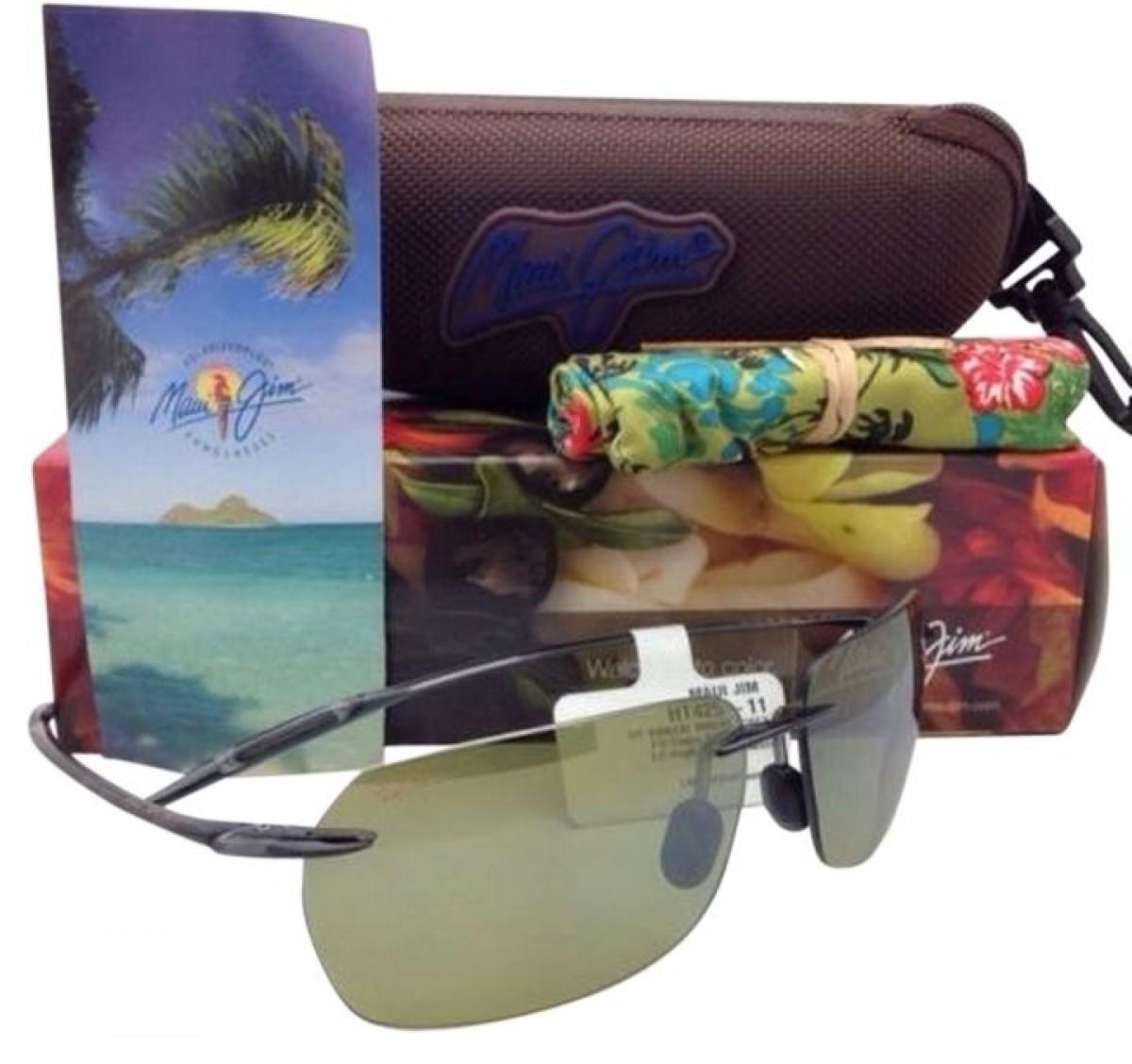 Maui Jim Banzai HT407-11, 125,00€, Occhiali Maui Jim Verde a forma Rettangolare