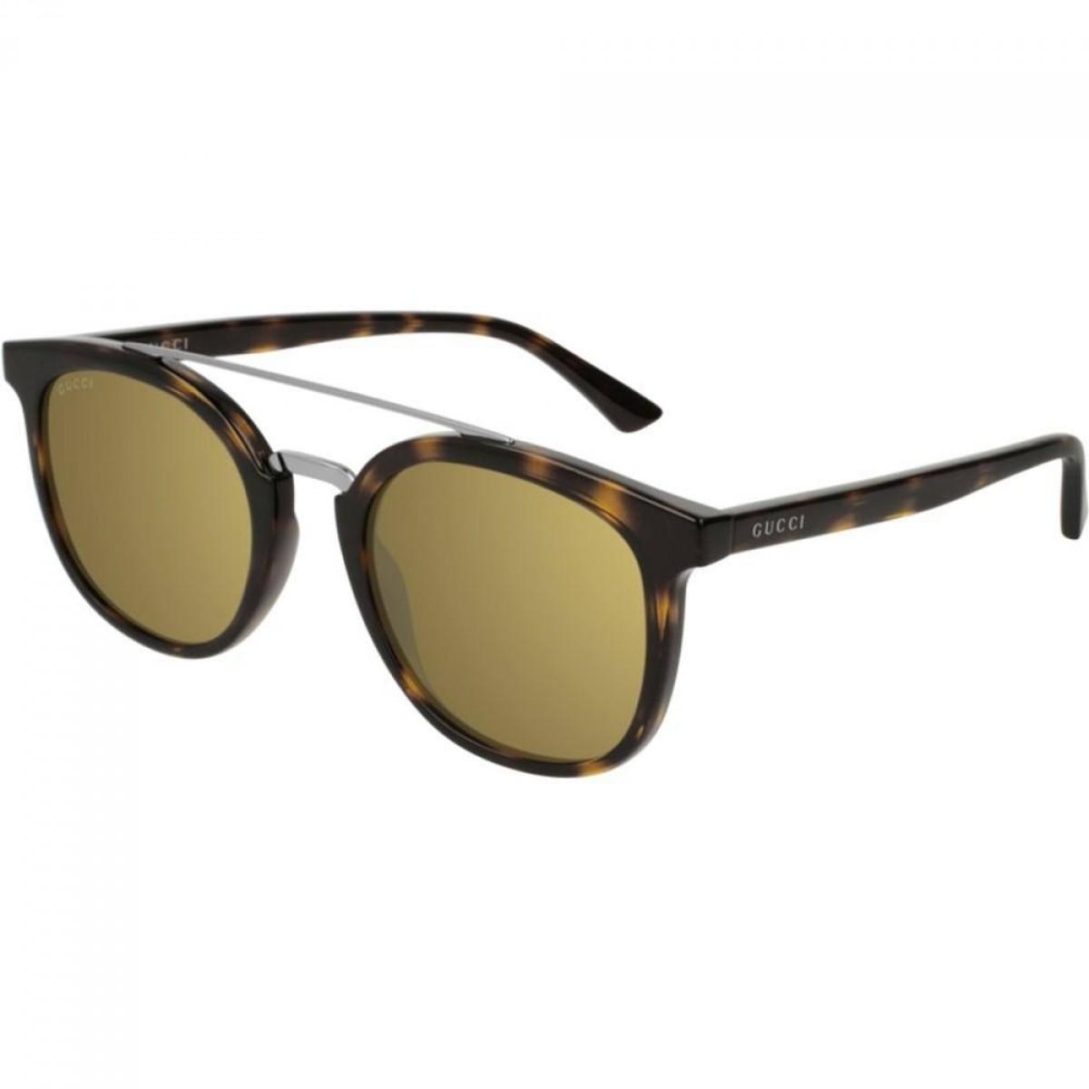 Gucci GG0403S 002 51, 167,99€, Occhiali Gucci Marrone a forma Ovale