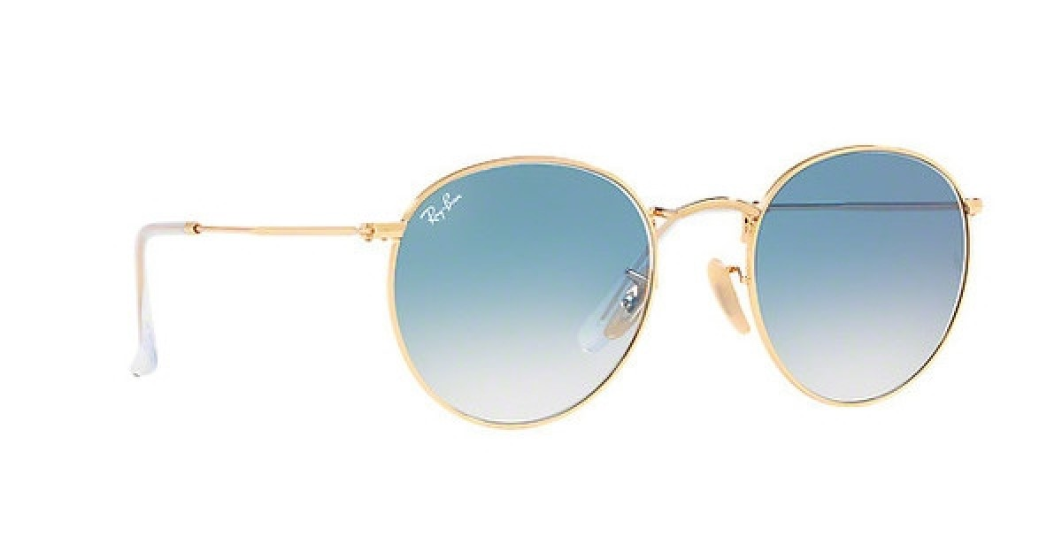 Ray Ban Round Metal RB3447 001/3F 50, 96,51 €, Occhiali Ray Ban Oro a forma Ovale