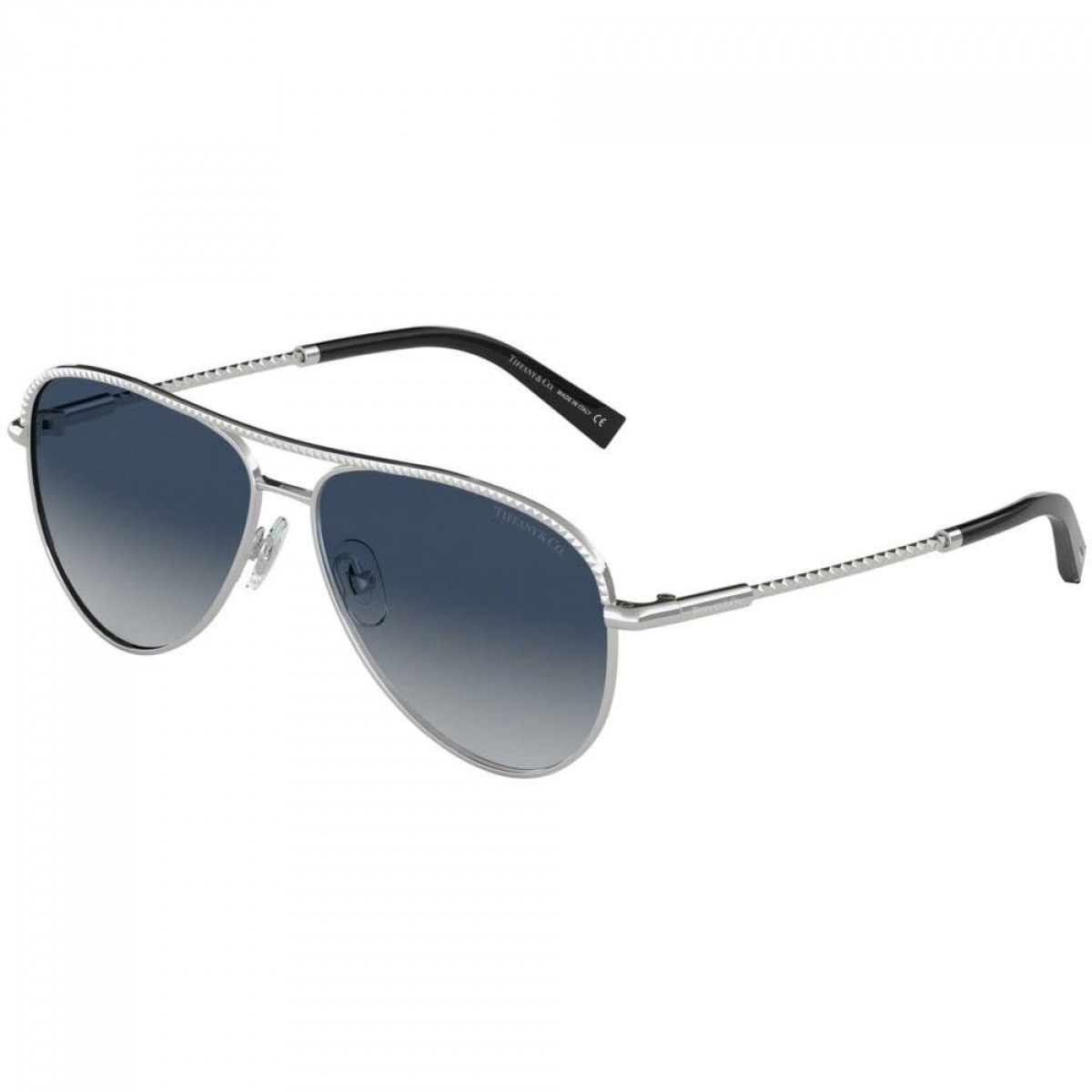 Tiffany & Co. 3062 60014L 57, 182,04 €, Occhiali Tiffany & Co. Argento a forma Goccia aviator