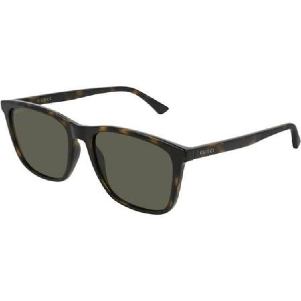 Gucci GG0404S 003 havana-green 55, 207,00€, Occhiali Gucci Marrone a forma Rettangolare