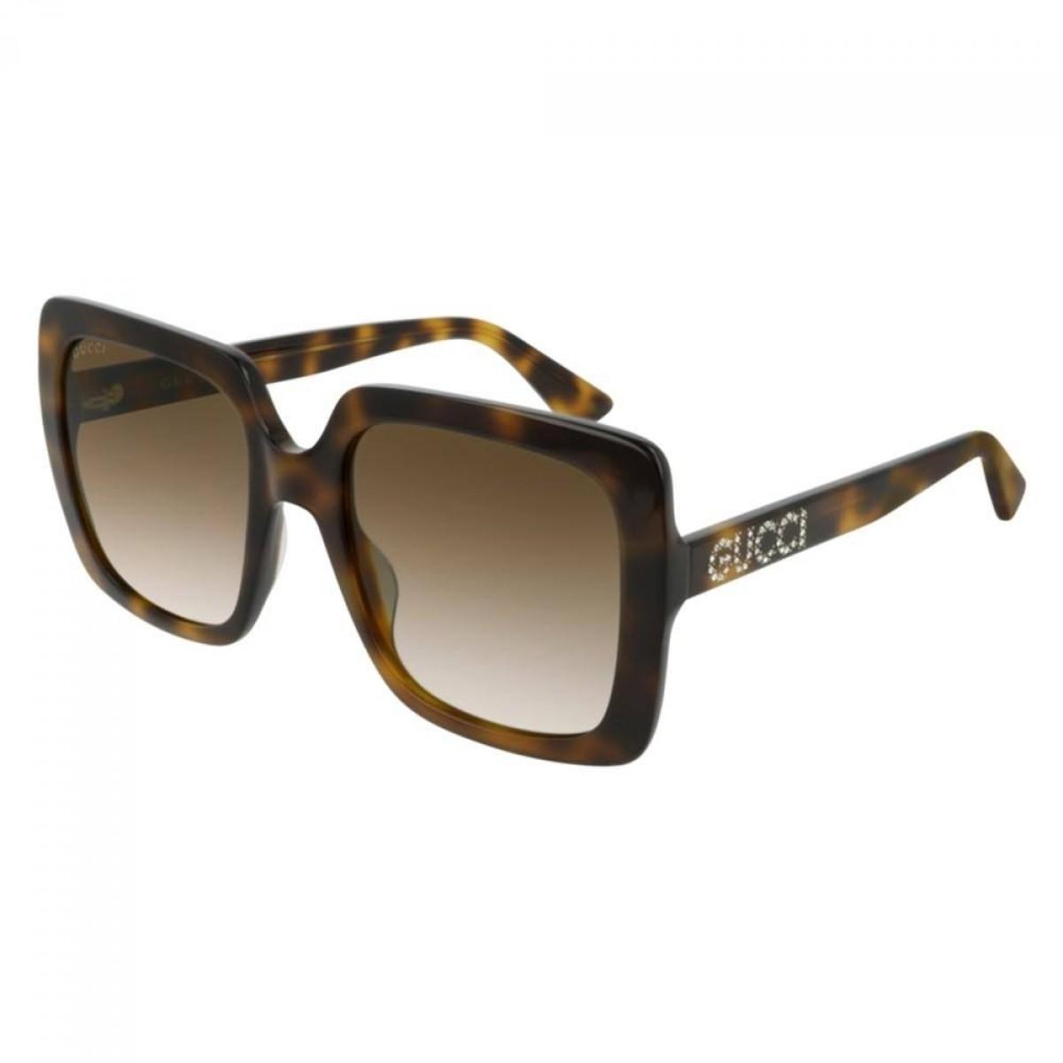 Gucci GG0418S 003 havana-brown 54, 214,00€, Occhiali Gucci Marrone a forma Squadrato
