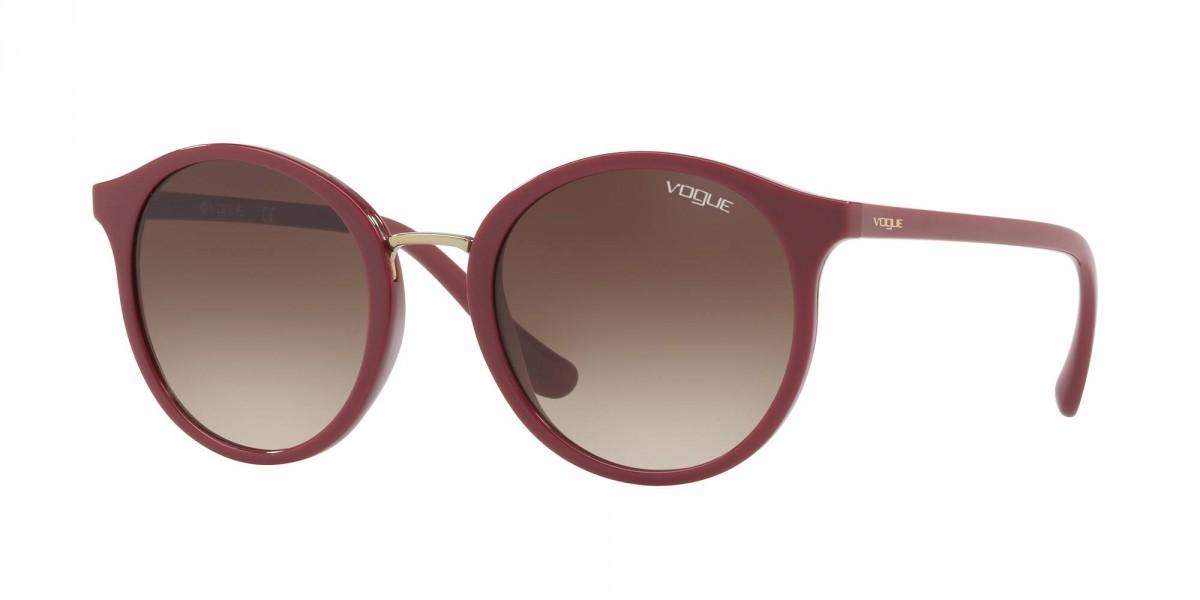 Vogue 5166S 256613 51, 66,00€, Occhiali Vogue Rosso a forma Rotondo