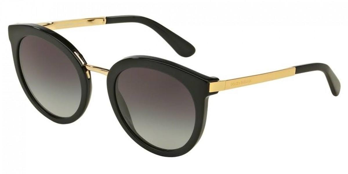 Dolce & Gabbana 4268 501/8G 52, 116,50€, Occhiali Dolce&Gabbana Nero a forma Rotondo