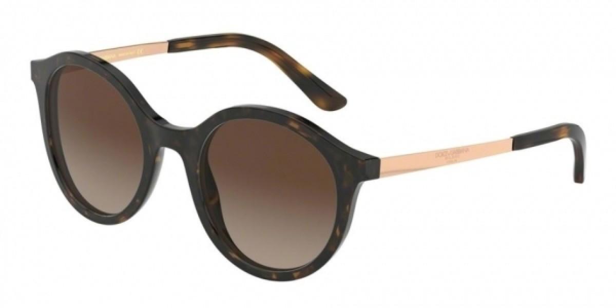 Dolce & Gabbana 4358 SOLE Colore 502/13 50, 137,71€, Occhiali Dolce&Gabbana Marrone a forma Rotondo