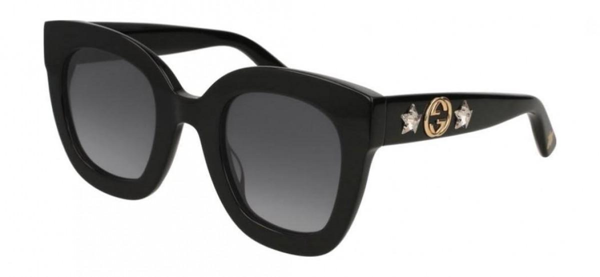 Gucci GG0208S 001, 182,52€, Occhiali Gucci Nero a forma Squadrato