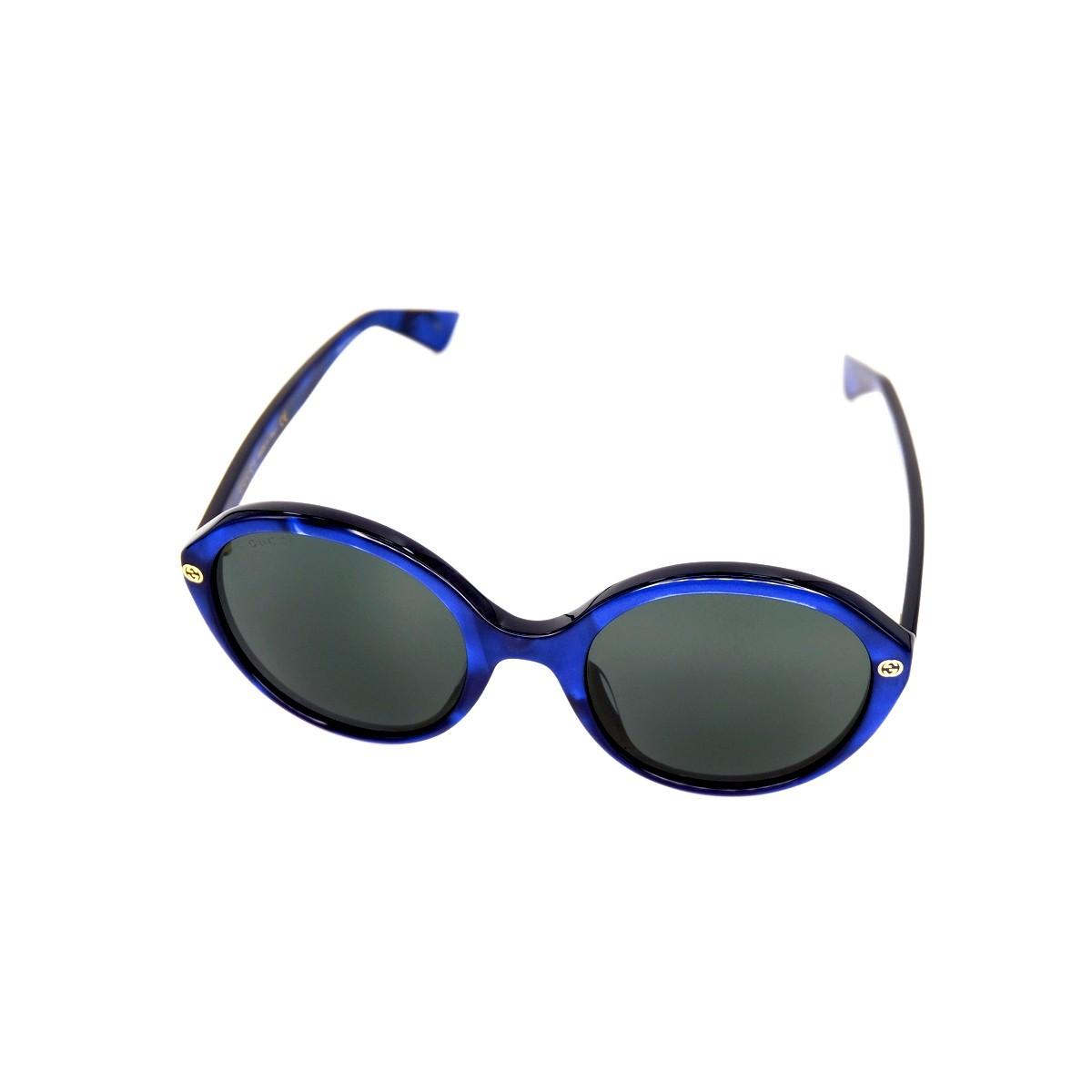 Gucci 0023S 004, 142,00€, Occhiali Gucci Blu a forma Rotondo