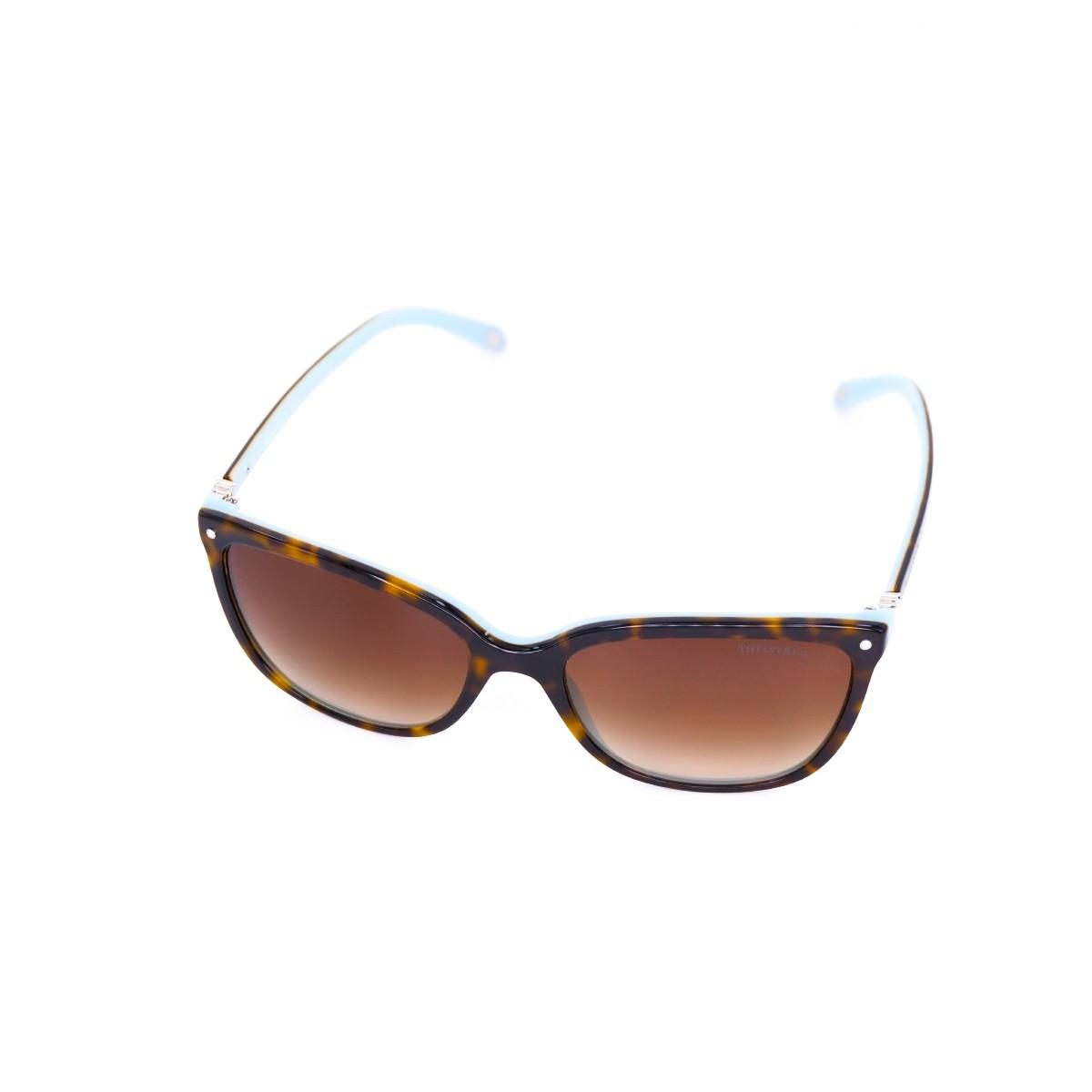 Tiffany 4105 81343B, 181,00€, Occhiali Tiffany & Co. Marrone a forma Rettangolare