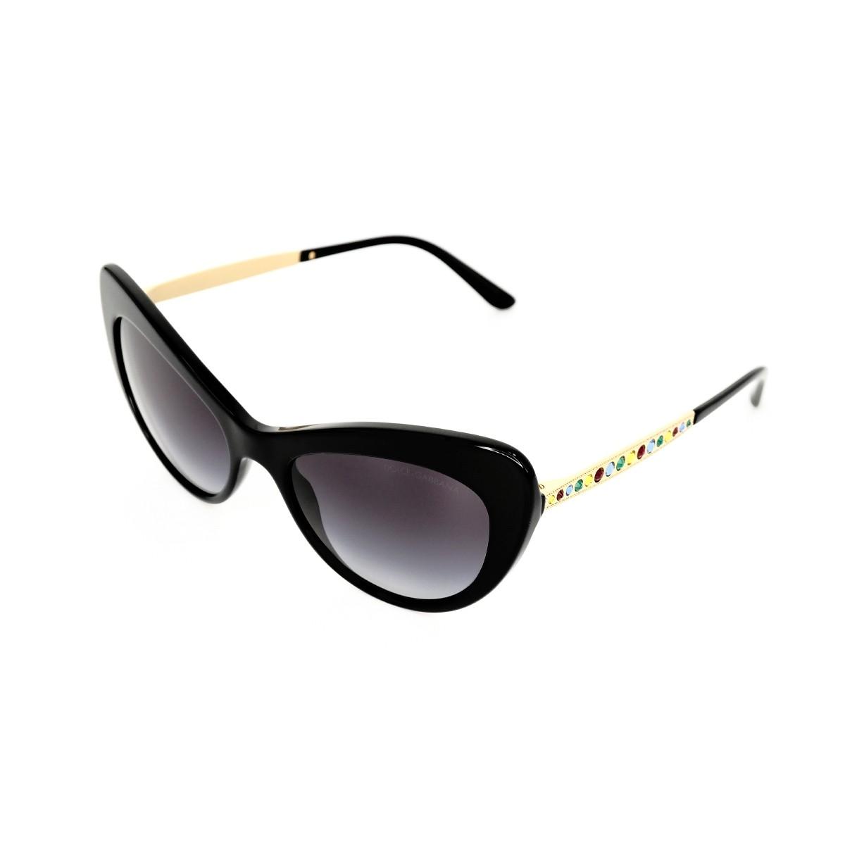 Dolce&Gabbana 4307B nero 501/8G, 184,00€, Occhiali Dolce&Gabbana Nero a forma Gatto