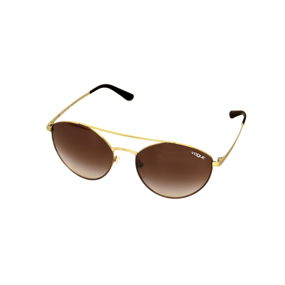 Vogue 4023 marrone satinato / oro opaco, 64,00 €, Occhiali Vogue Marrone a forma Farfalla