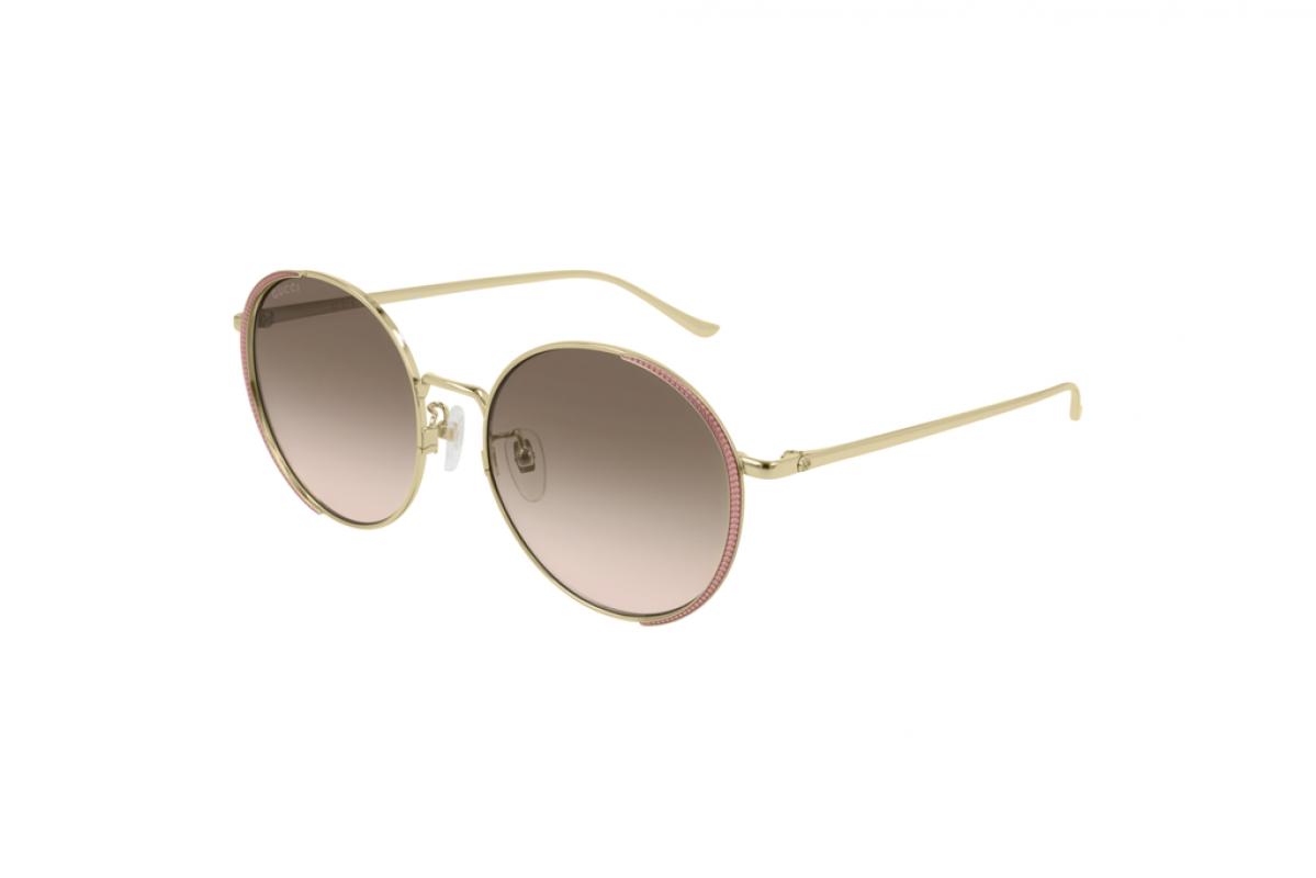 Gucci GG401SK 002, 299,00€, Occhiali Gucci Oro a forma Rotondo