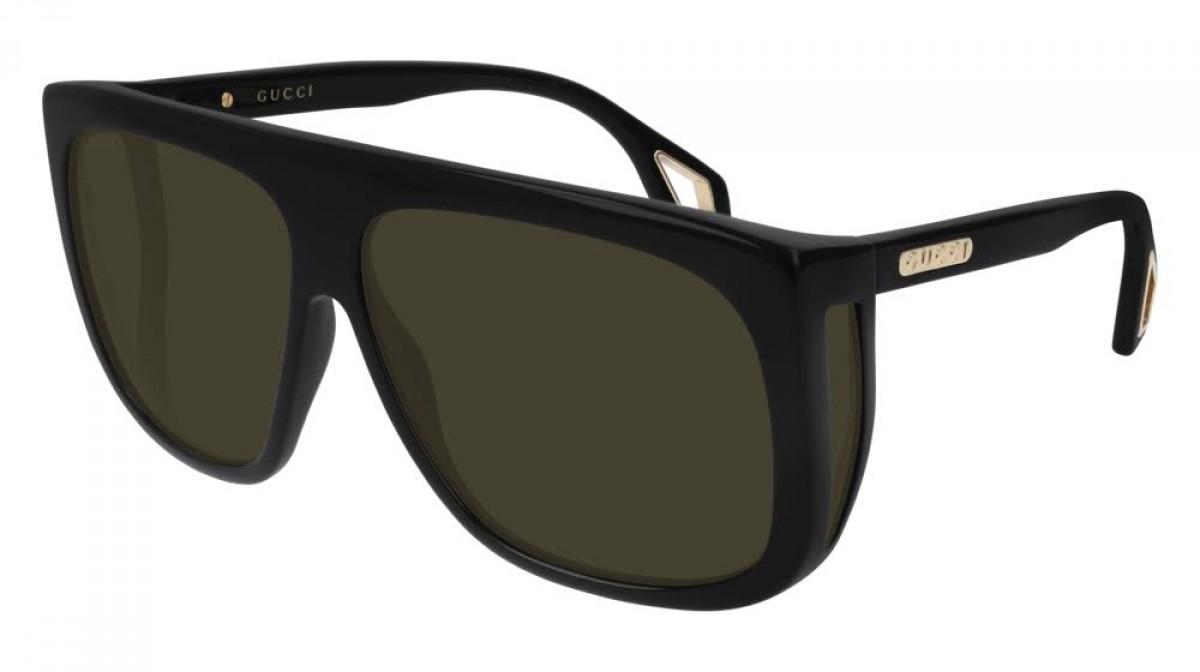 Gucci GG0467S 001, 290,00€, Occhiali Gucci Nero a forma Rettangolare