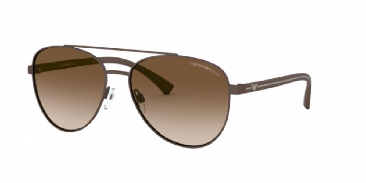 Emporio Armani 2079 30018E 58, 95,99€, Occhiali Emporio Armani Nero a forma Goccia aviator