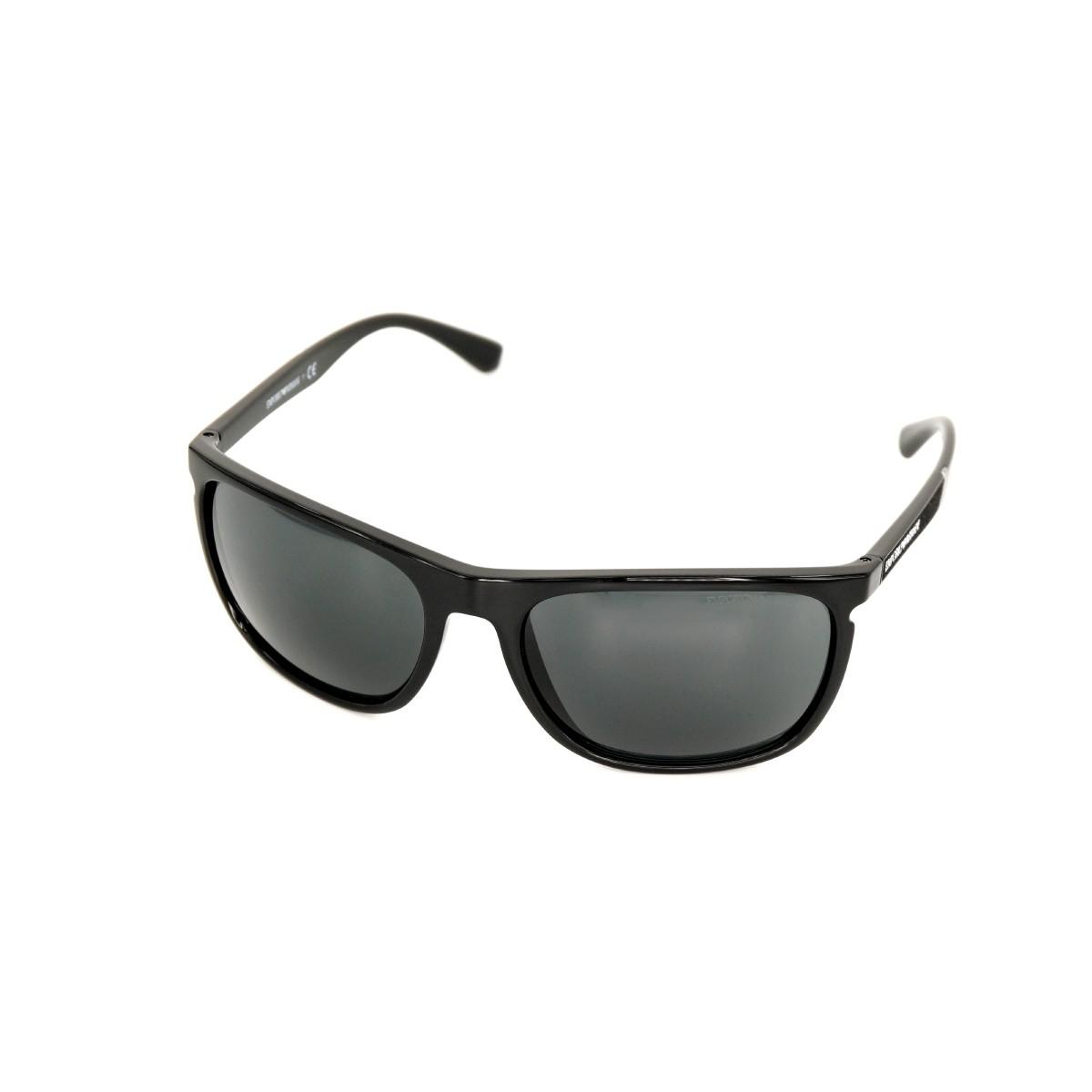 Emporio Armani 4107 nero lucido 501787, 73,00€, Occhiali Emporio Armani Nero a forma Rettangolare