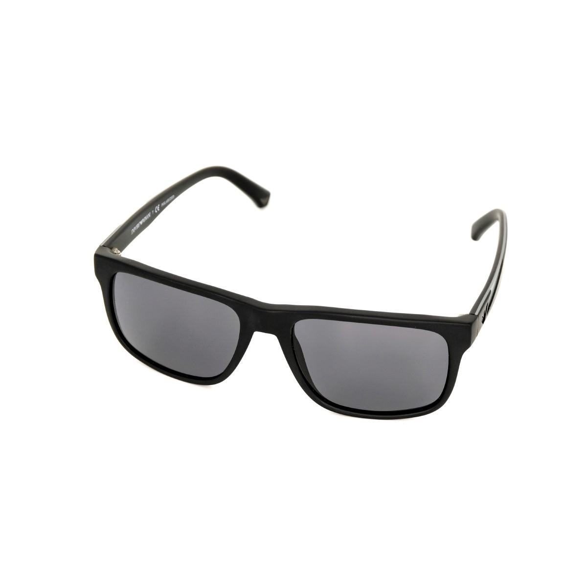 Emporio Armani 4071 nero gommato 504281, 101,00€, Occhiali Emporio Armani Nero a forma Rettangolare