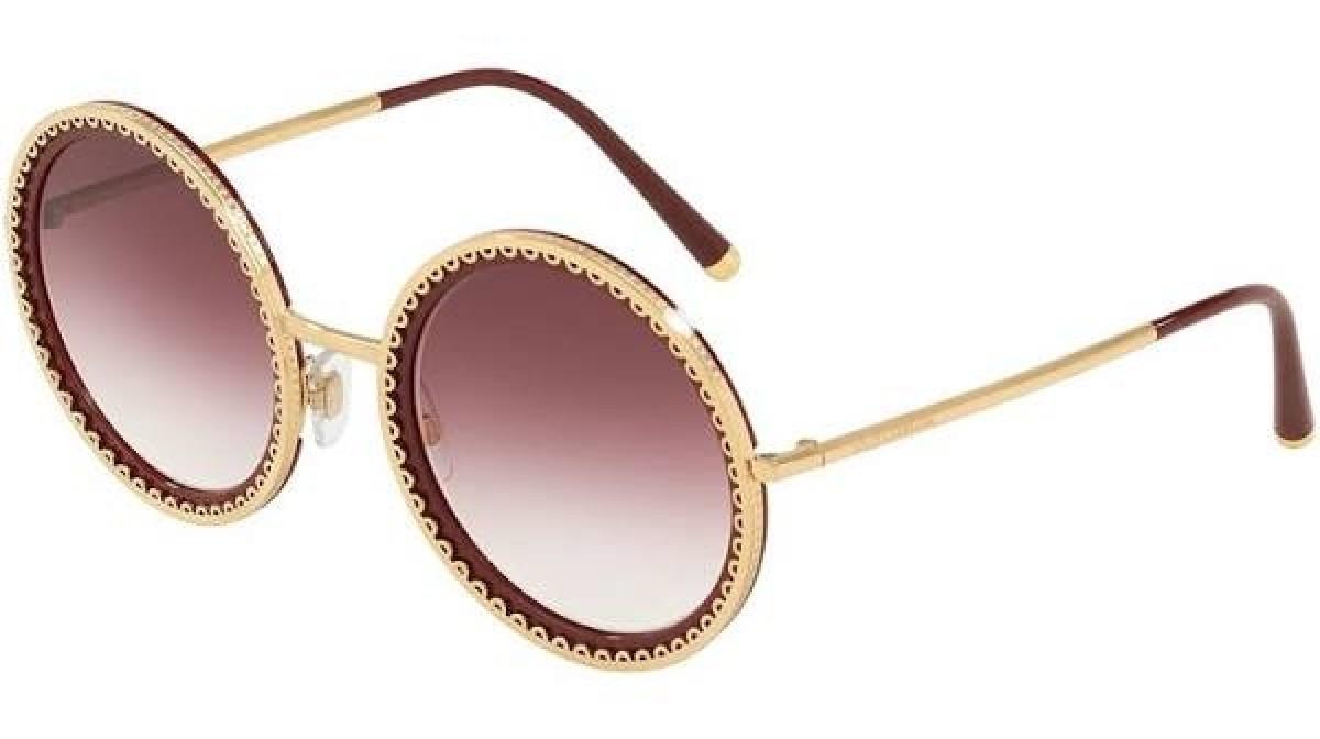 Dolce & Gabbana 2211 02/8H 53, 153,99€, Occhiali Dolce&Gabbana Oro a forma Rotondo