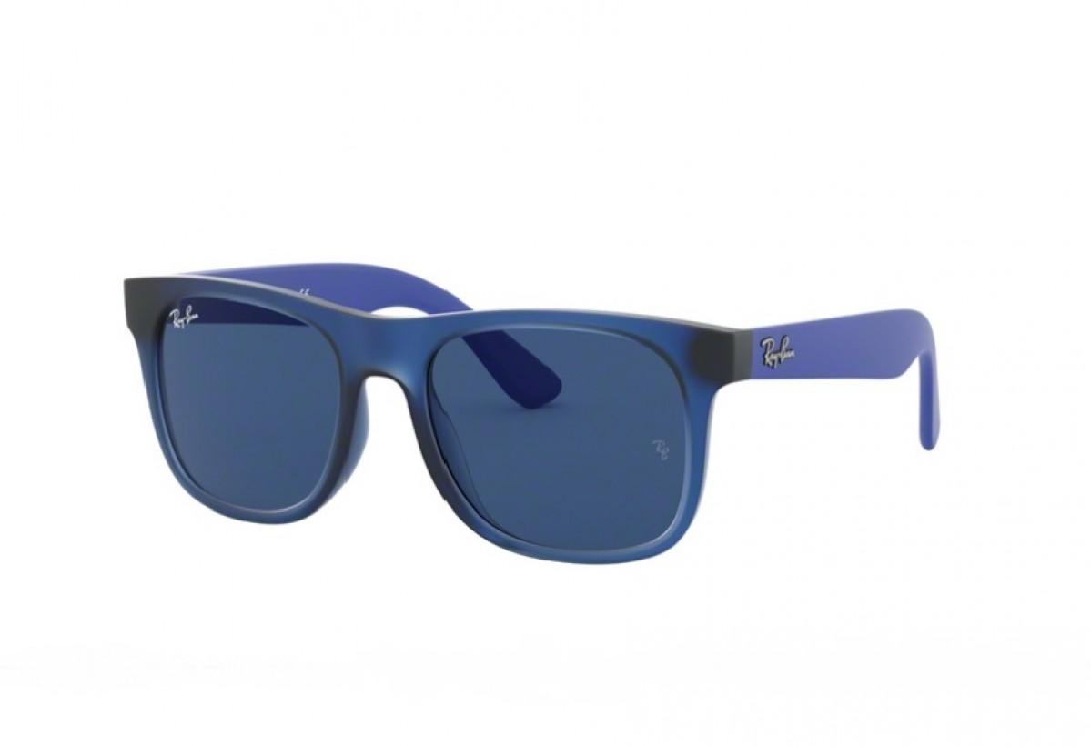 Ray-Ban Junior 9069S 706080 48, 60,00€, Occhiali Ray Ban Junior Blu a forma Rettangolare