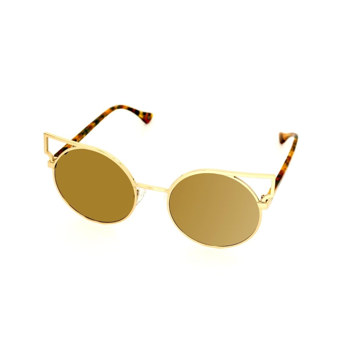 Vespa 1209 oro e light avana marrone verde 02, 145,00€, Occhiali Vespa Oro a forma Rotondo