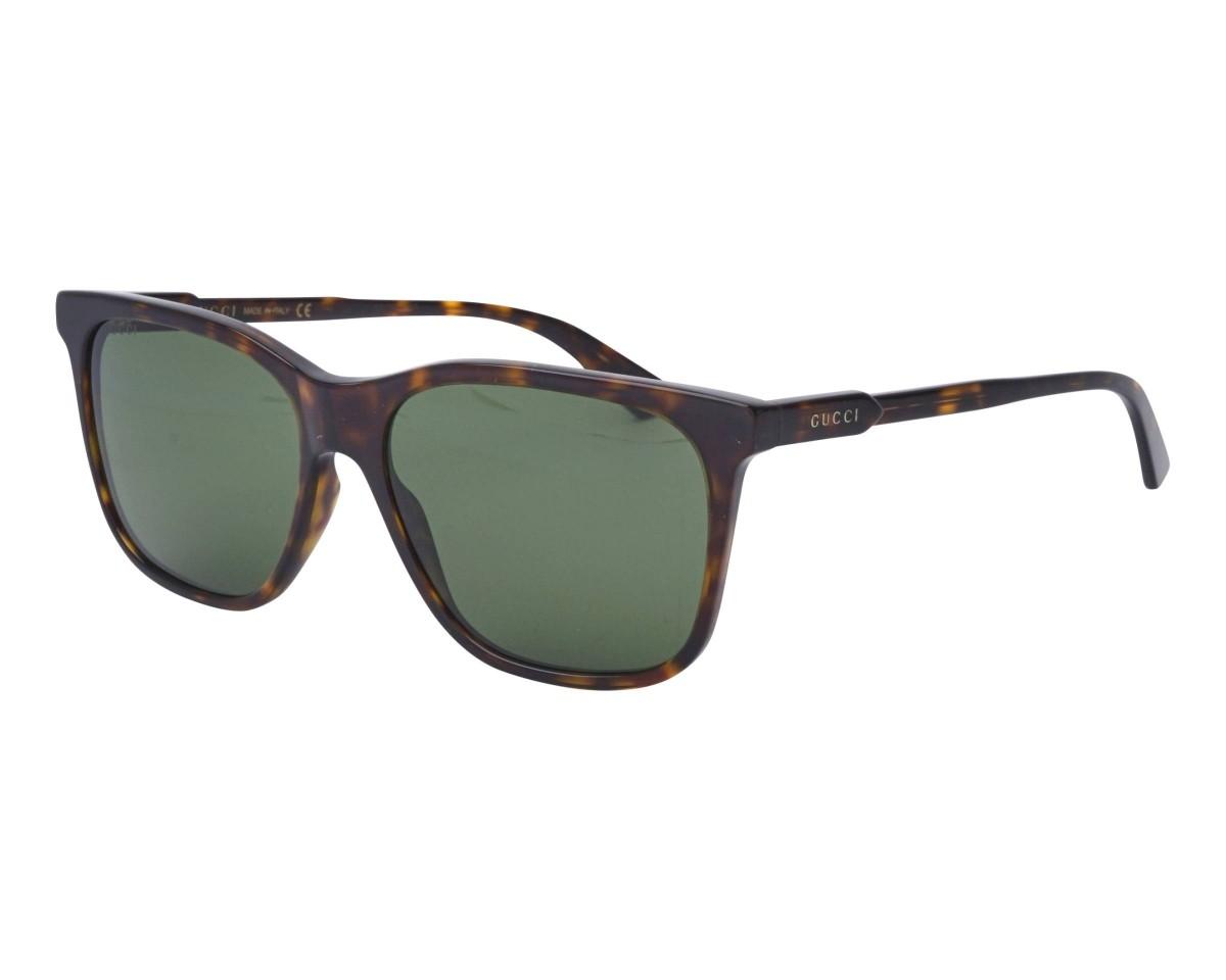 Gucci GG0495S 002 57, 121,04€, Occhiali Gucci Marrone a forma Rettangolare