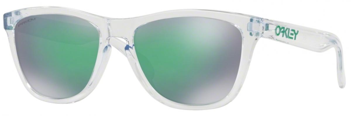 Oakley Frogskin 9013D6 55, 125,00€, Occhiali Oakley Bianco a forma Squadrato