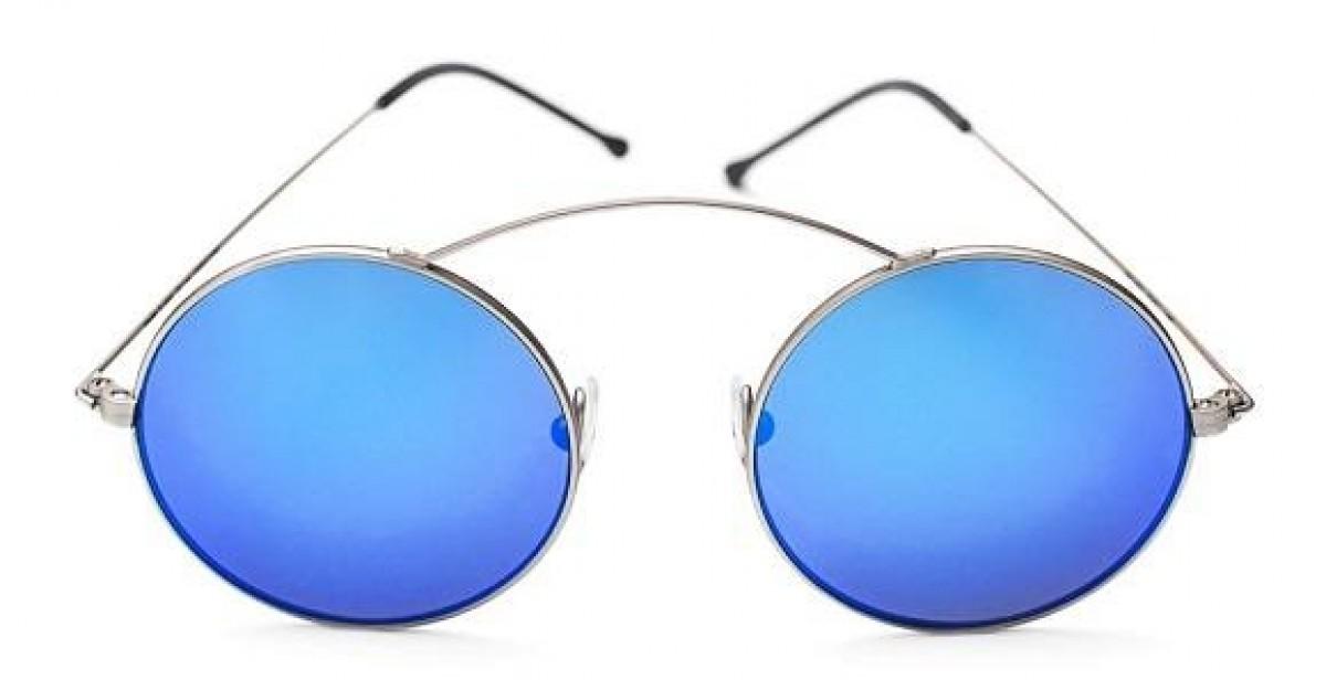 Metro Argento / Blu Specchio, 120,00€, Occhiali Spektre Argento a forma Ovale