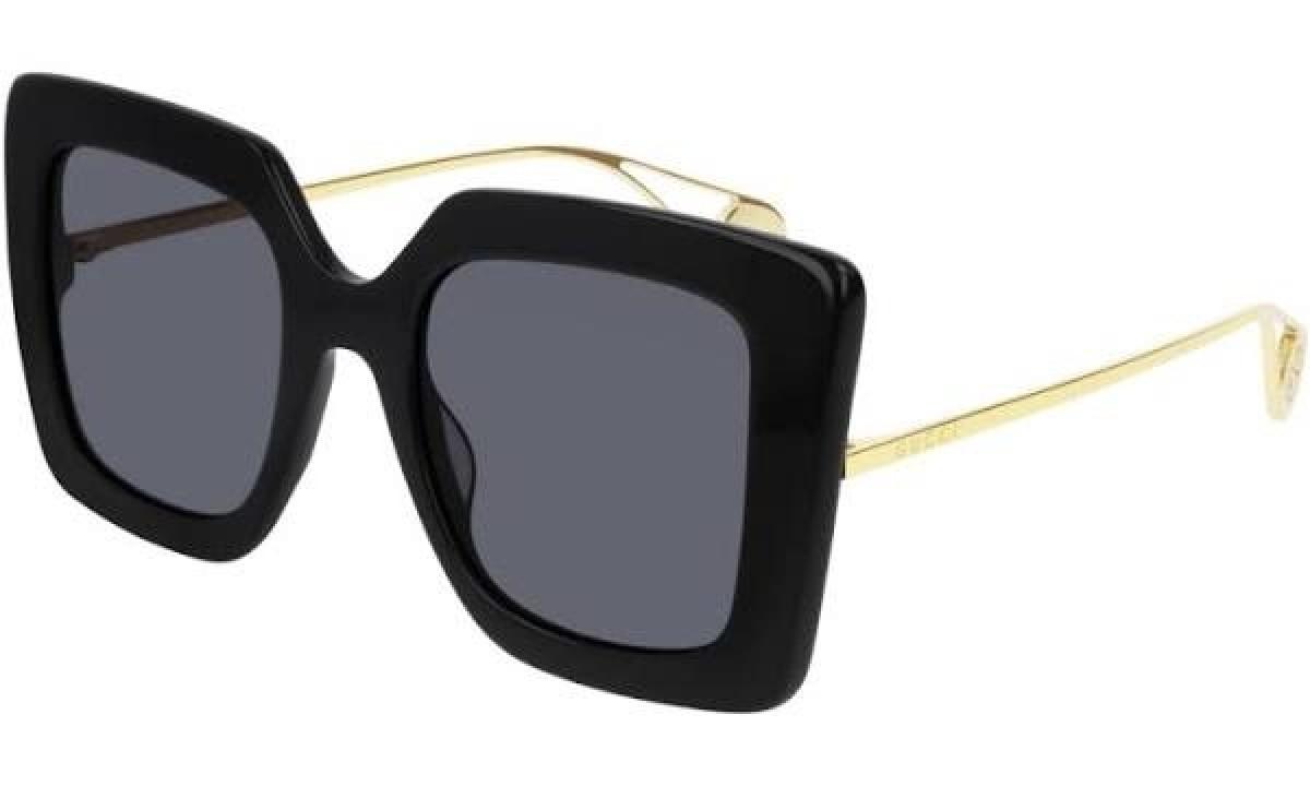 Gucci GG0435S 001 51, 230,00€, Occhiali Gucci Nero a forma Farfalla