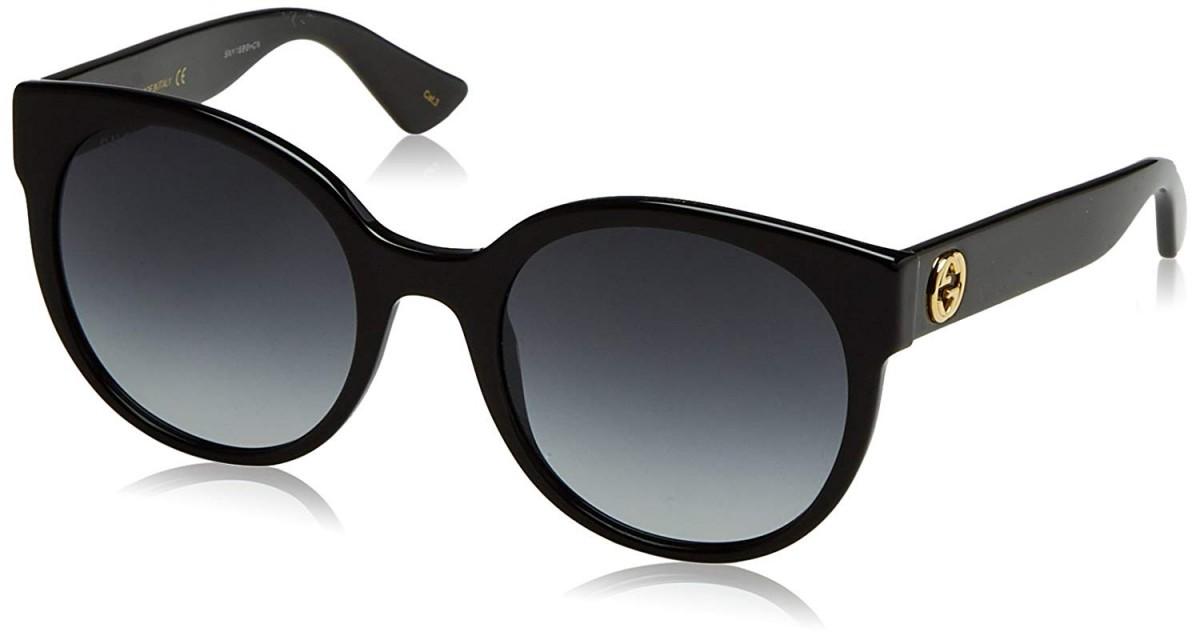 Gucci GG0035S 001 54, 169,99€, Occhiali Gucci Nero a forma Rotondo