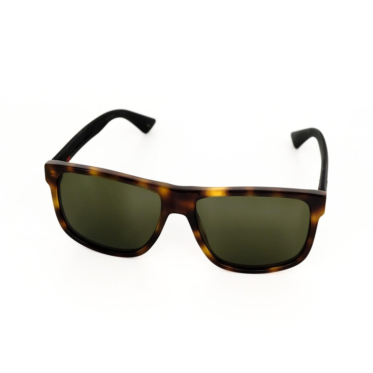 Gucci 0010S 006, 187,00€, Occhiali Gucci Marrone a forma Rettangolare
