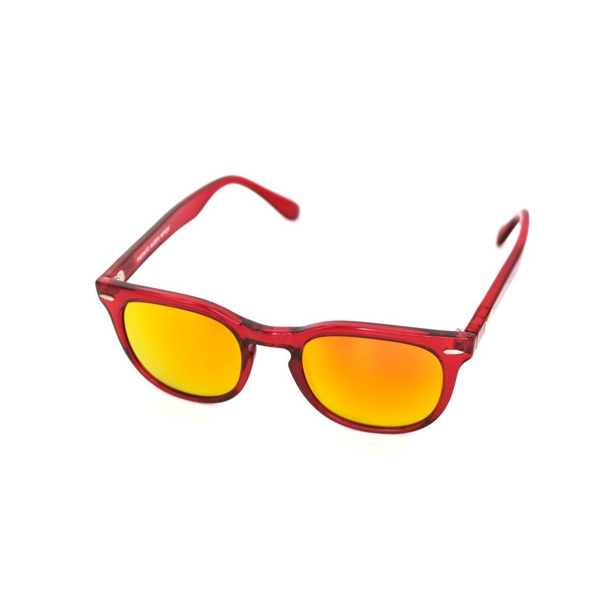 Spektre Memento rosso arancio specchio, 72,00€, Occhiali Spektre Rosso a forma Squadrato
