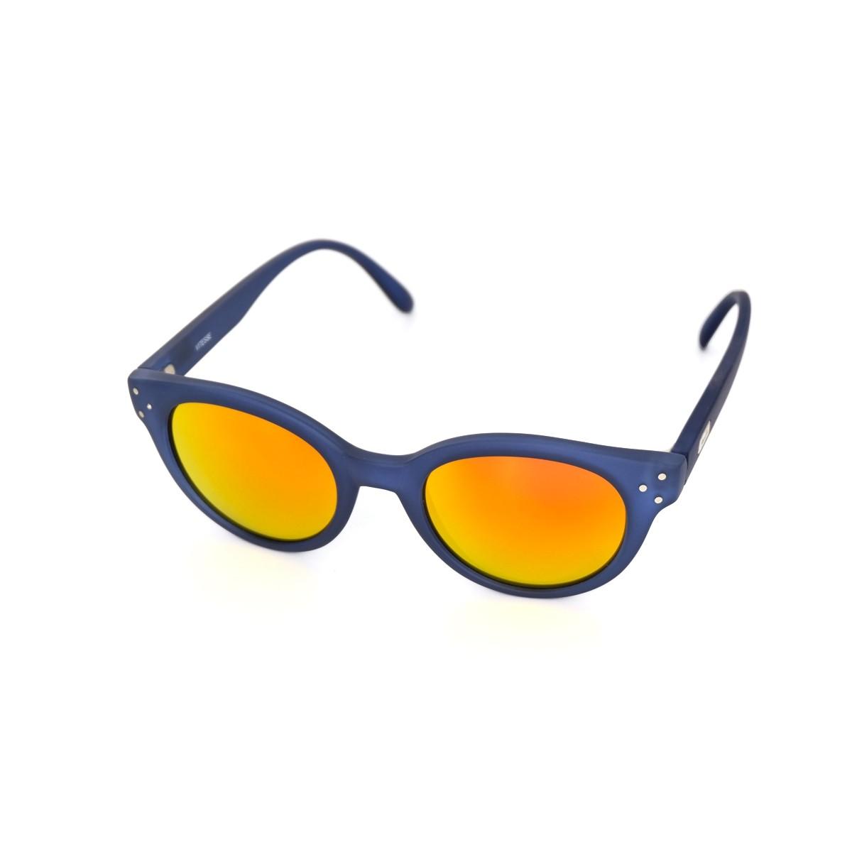 Spektre Vitesse blu satinato arancio specchio, 72,00€, Occhiali Spektre Blu a forma Rotondo