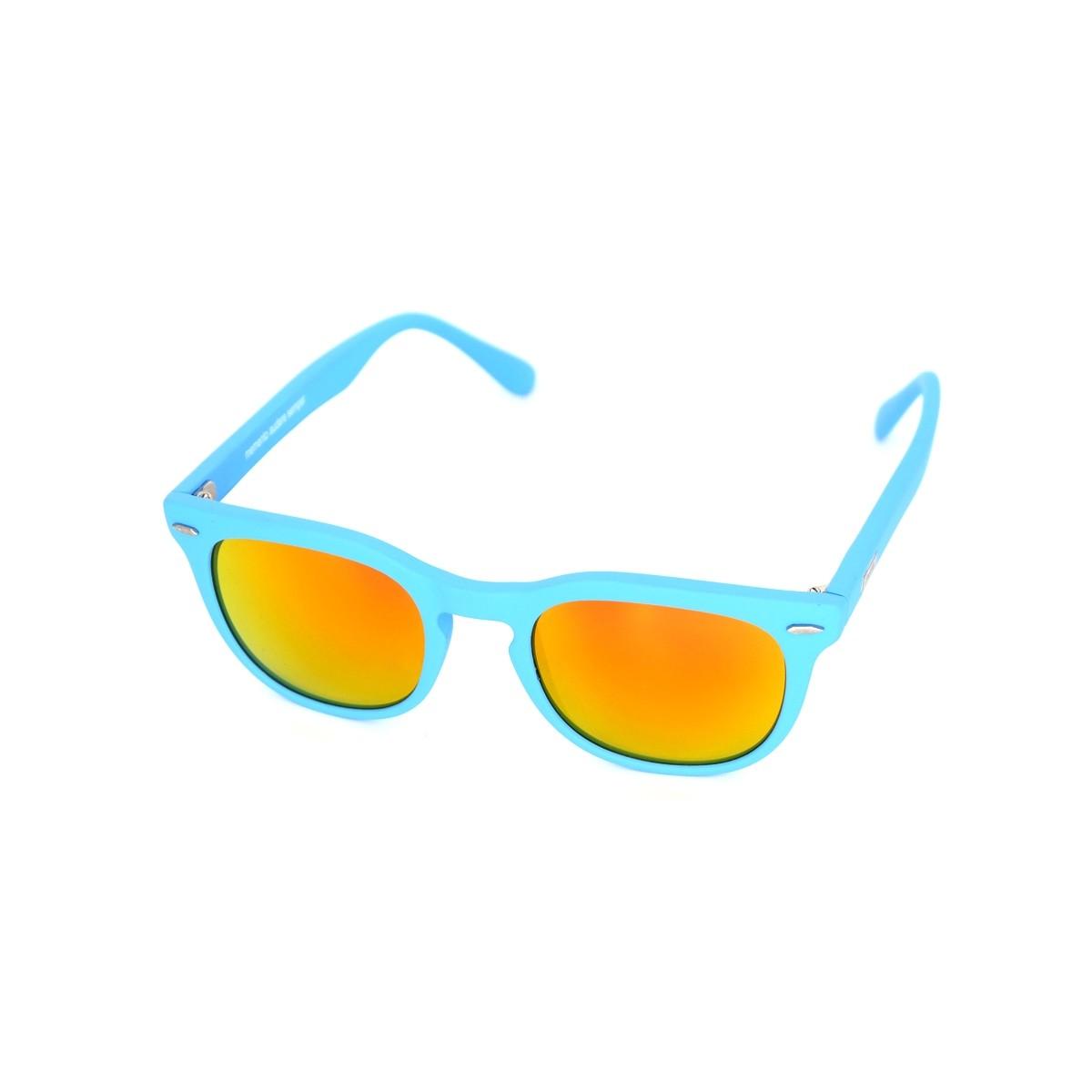 Spektre Memento azzurro satinato oro specchio, 72,00€, Occhiali Spektre Blu a forma Squadrato