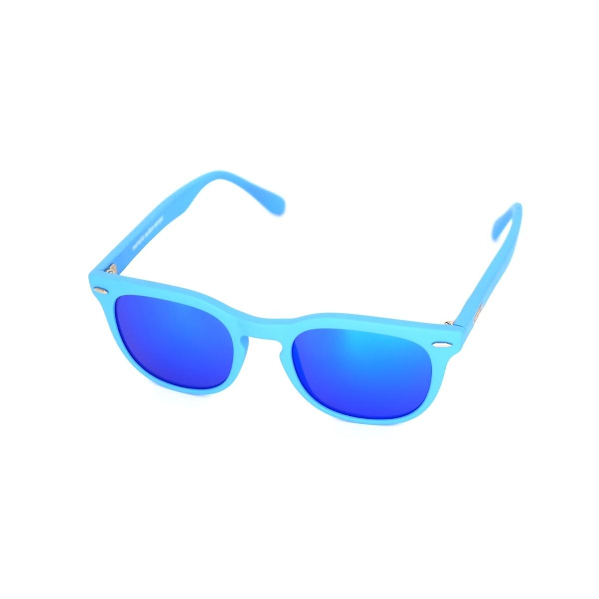Spektre Memento azzurro satinato blu specchio, 72,00€, Occhiali Spektre Blu a forma Squadrato
