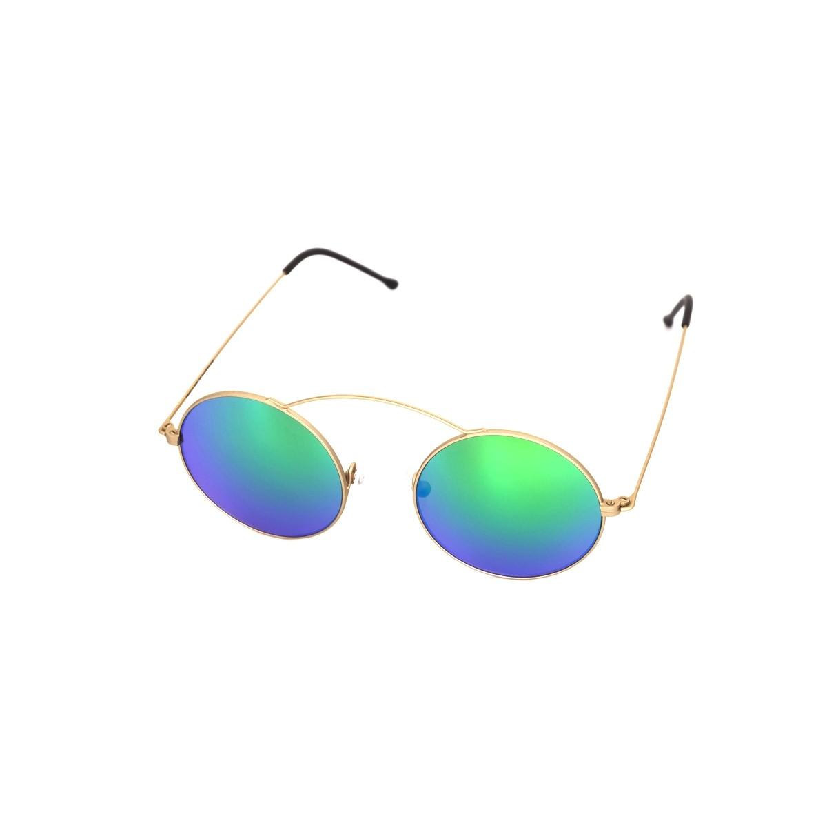 Spektre Metro Oro satinato verde specchio, 88,00€, Occhiali Spektre Oro a forma Rotondo
