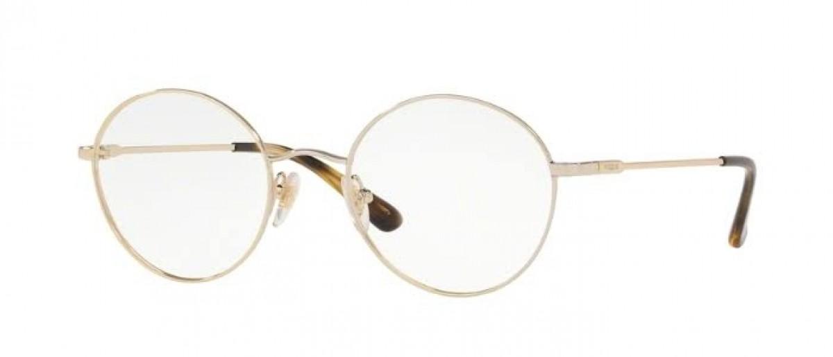 Vogue 4127 848 50, 105,00€, Occhiali Vogue Oro a forma Rotondo