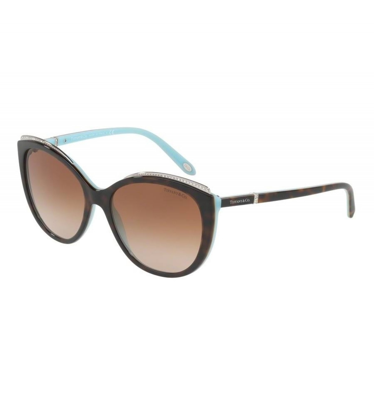 Tuffany 4134 81343B 56, 185,98 €, Occhiali Tiffany & Co. Marrone a forma Farfalla