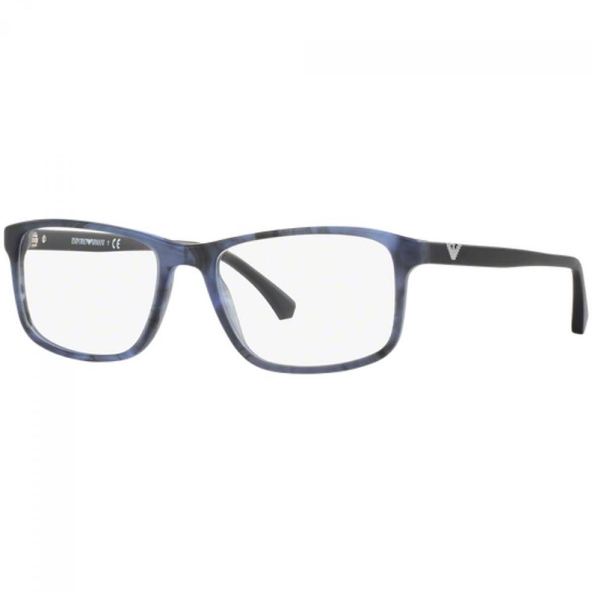 Emporio Armani 3098 5549 53, 100,00€, Occhiali Emporio Armani Blu a forma Rettangolare