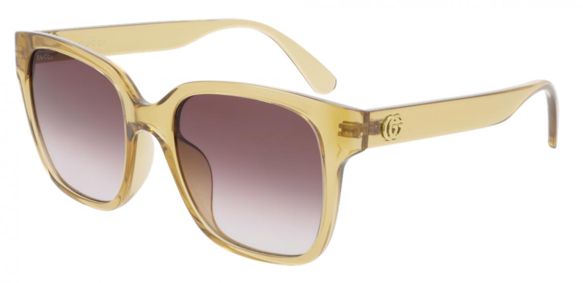 Gucci GG0715 003, 260,00€, Occhiali Gucci Giallo a forma Squadrato