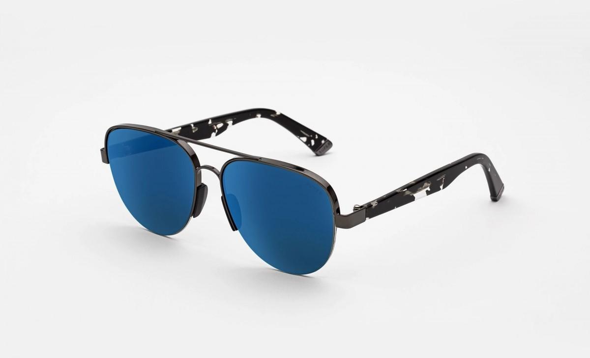 Super Air Blue Mirror, 245,00€, Occhiali Super Grigio a forma Goccia aviator