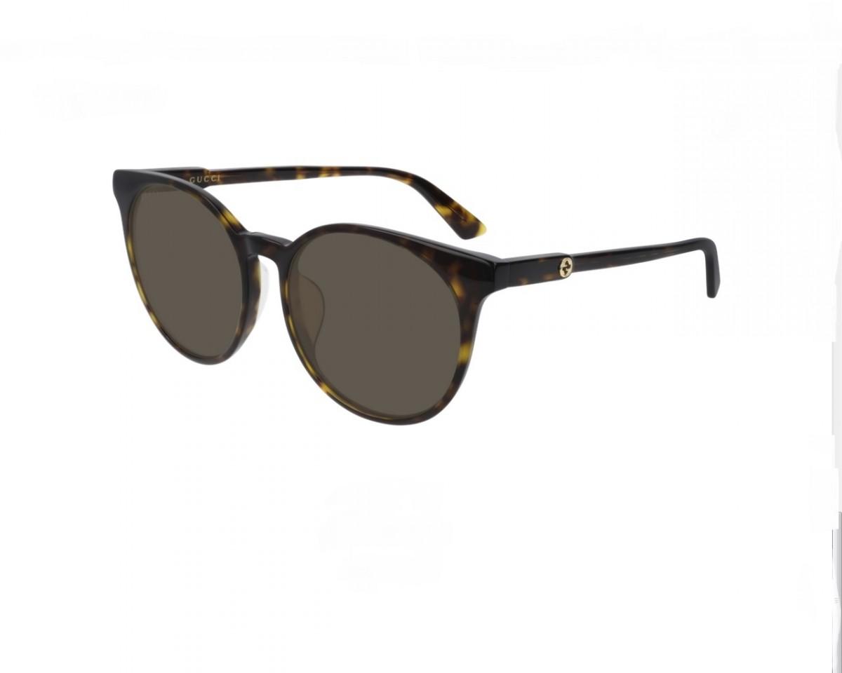 Gucci GG0488SA 002 56, 170,00€, Occhiali Gucci Marrone a forma Rotondo