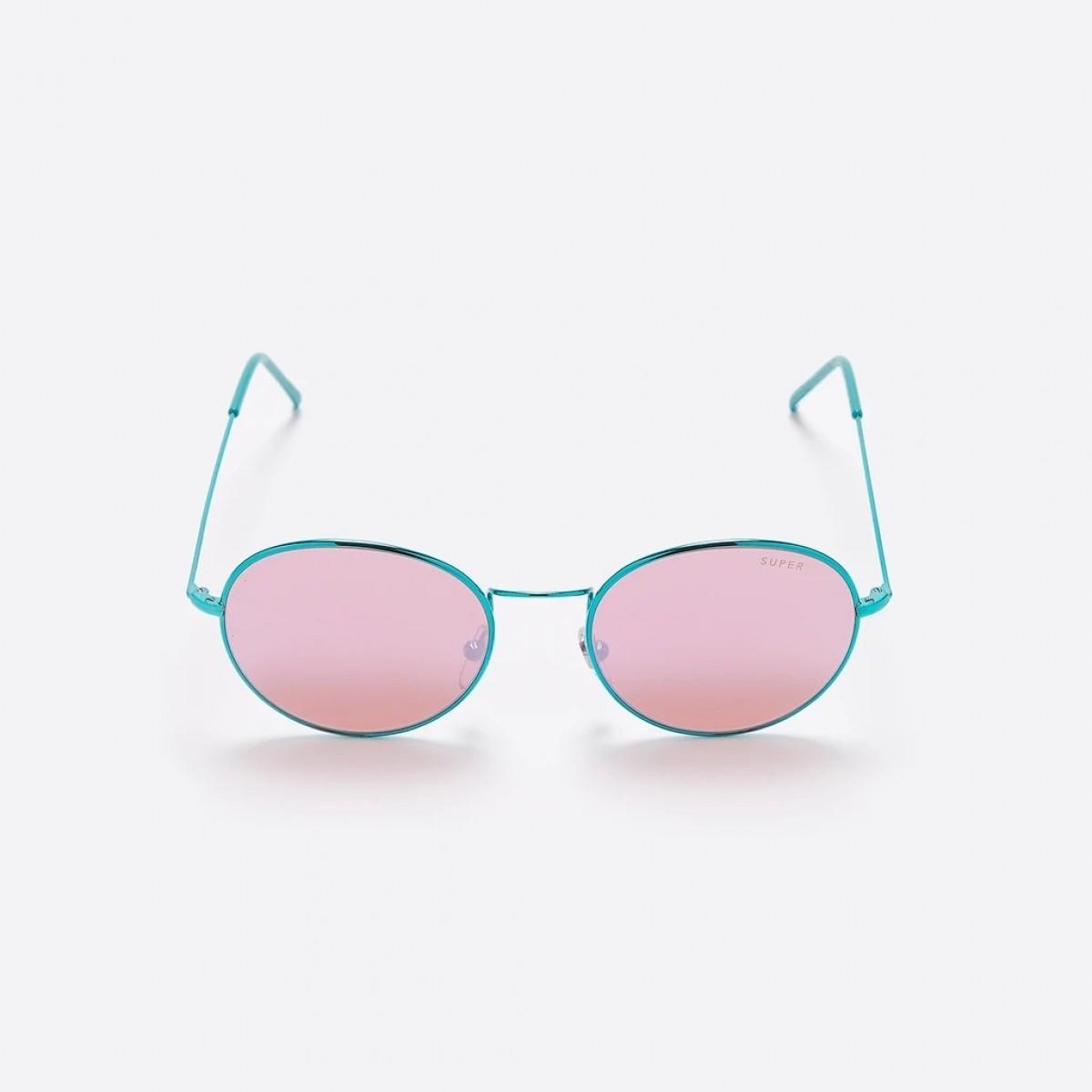 Super Wire Pink, 245,00€, Occhiali Super Rosa a forma Rotondo