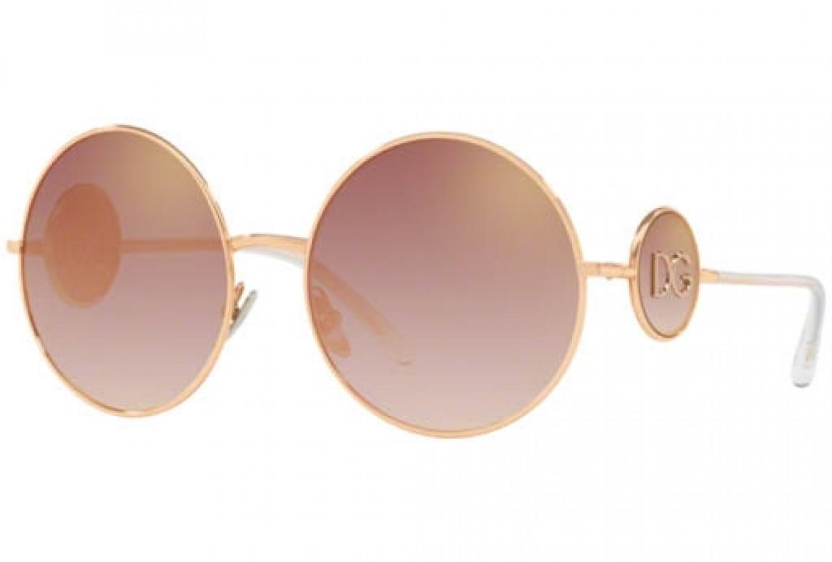 D&G 2205 12986F 59, 139,99€, Occhiali Dolce&Gabbana Oro a forma Rotondo