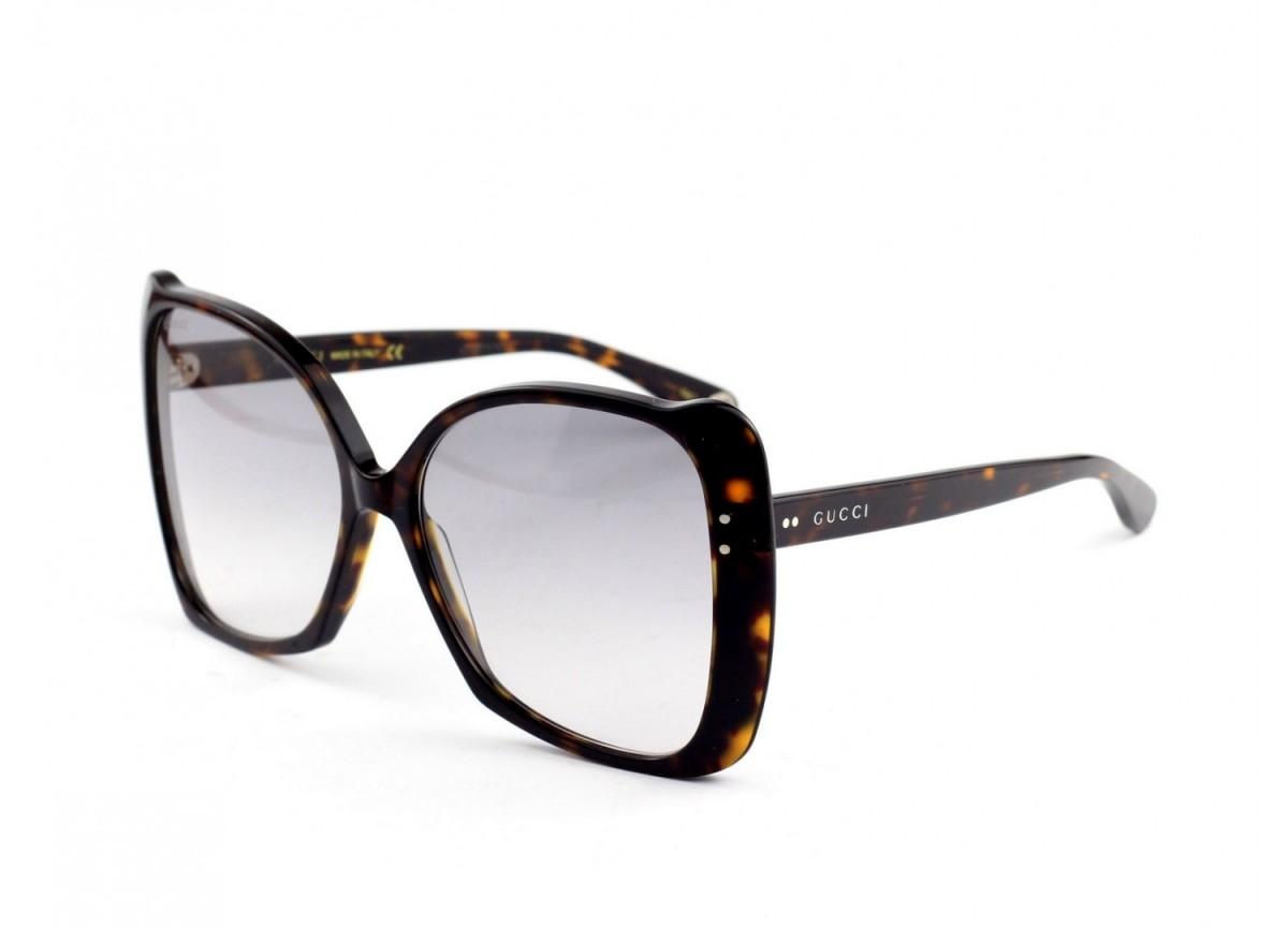 Gucci GG0471S 002 62, 175,99€, Occhiali Gucci Marrone a forma Farfalla
