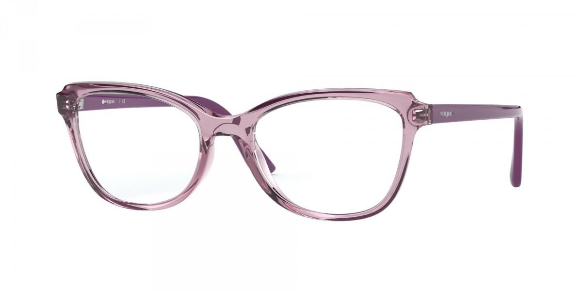 Vogue 5292 2765 53, 72,00€, Occhiali Vogue Viola a forma Rettangolare