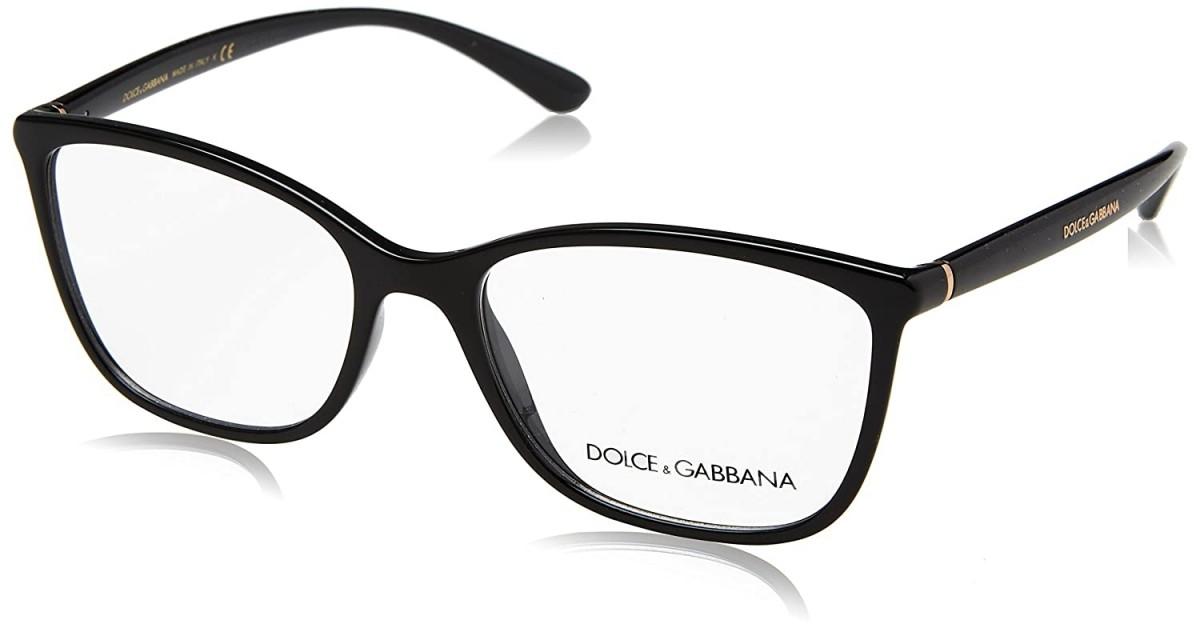 Dolce & Gabbana 5026 501 54, 138,00€, Occhiali Dolce&Gabbana Nero a forma Rettangolare