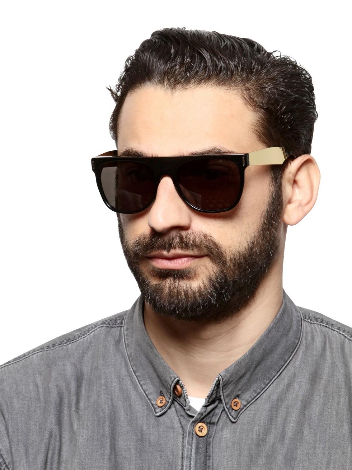 Super Flat Top Francis Black 55, 190,00€, Occhiali Super Nero a forma Rettangolare